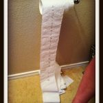 Effects Toilet Paper Has on a Three Year old
