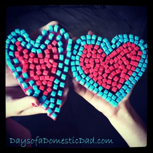 Craft Days With Daddy – Valentine's Day Mosaic Heart
