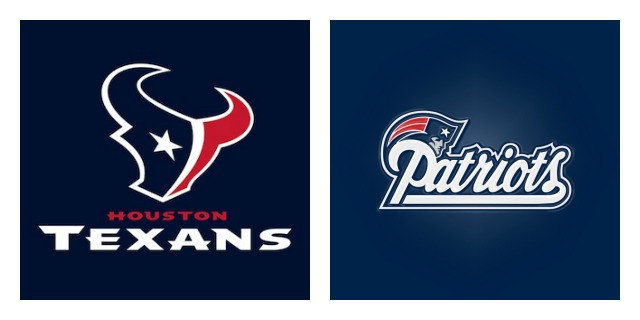 Pats and Texans Collage
