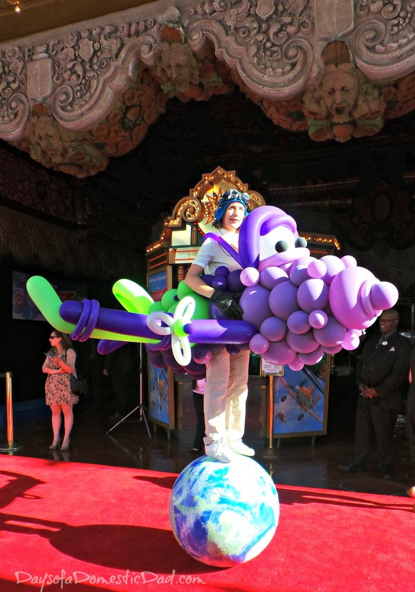 Balloon Lady at Planes Premiere
