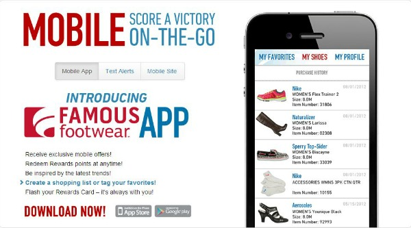 famous footwear apps coupon famous footwear apps download