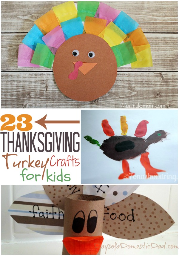 23 Thanksgiving Turkey Crafts for Kids