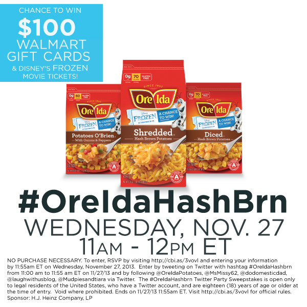 #OreIdaHashbrn Twitter Party 11/27