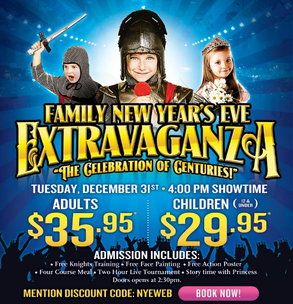 Ring in the New Year with Medieval Times Family NYE Extravaganza