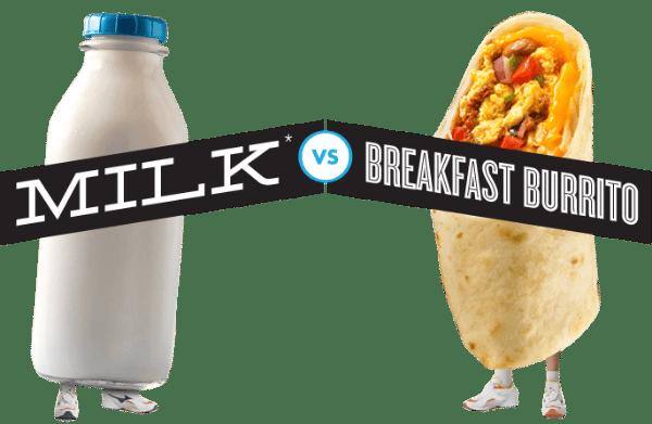 Milk vs Breakfast Burritos Protein Fight Club