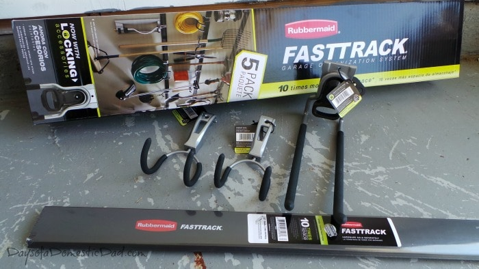 rubbermaid fasttrack rail system fast track garage storage