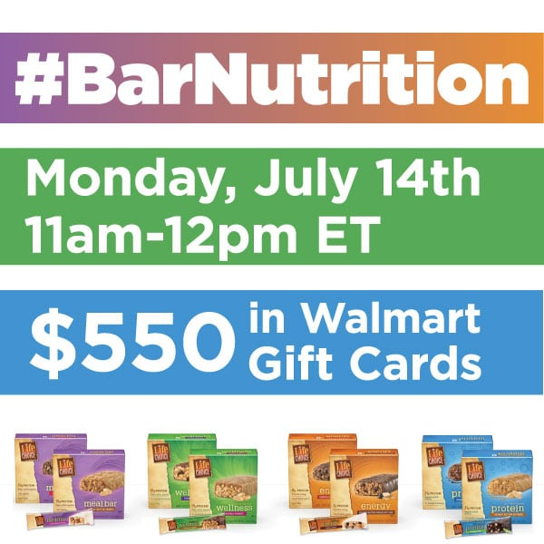 RSVP for the #BarNutrition Twitter Party 7/14 11am EST