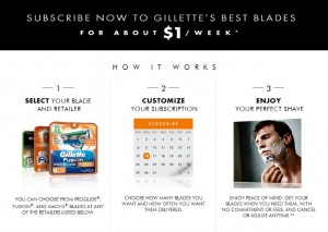 Gillette Razor Blade Subscription