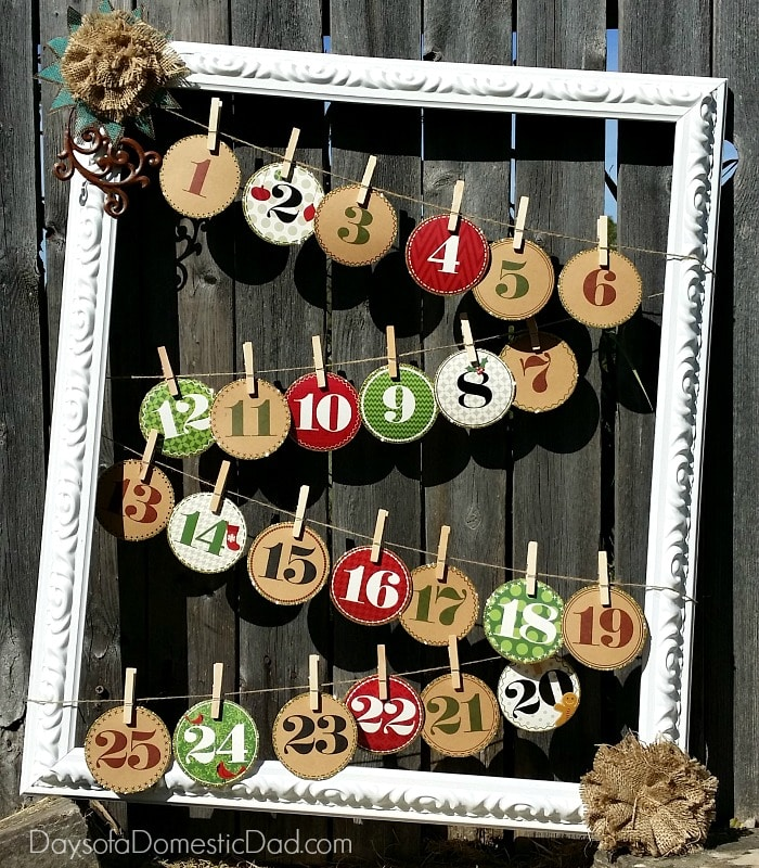 Wonderful Christmas Picture Frame Craft Ideas Part - 9: Holiday Advent Calendar Frame