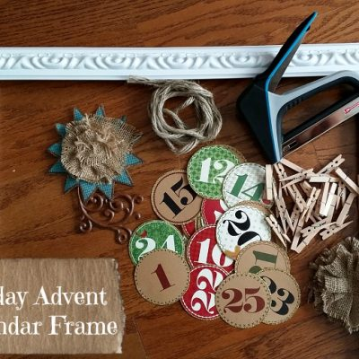 Holiday Advent Calendar Frame Craft