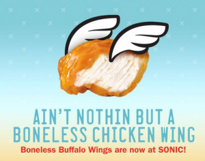 Let Sonic Drive-In Boneless Wings Feed Your Next Tailgate Party