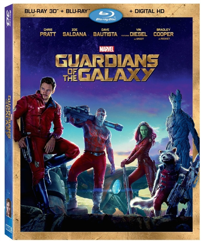 Guardians of the Galaxy on Blu-ray 12/9