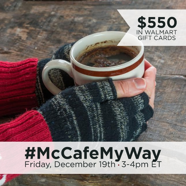 RSVP for the #McCafeMyWay Twitter Party Dec 19th at 3pm EST