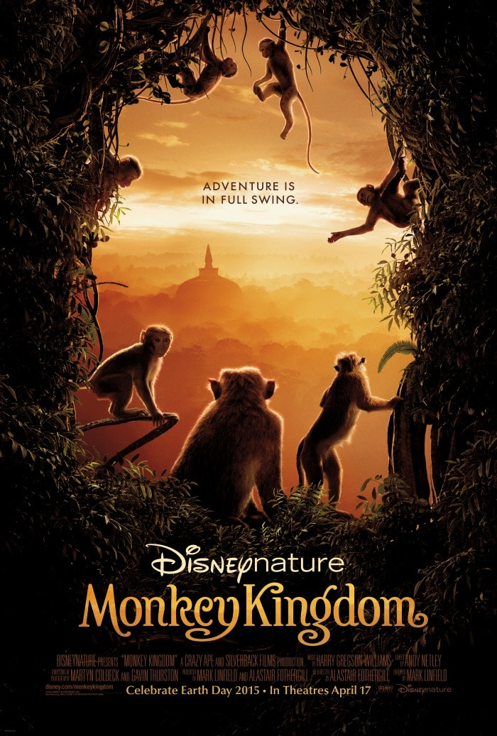 Swing Into Theaters April 17 to Watch Disneynature Monkey Kingdom