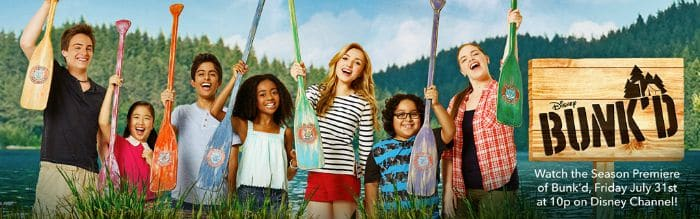 Disney BUNK'D Premiere disney channel peyton list karan brar summer camp in maine kevin quinn ross kids christina ross counselors in training emma ravi and zuri ross