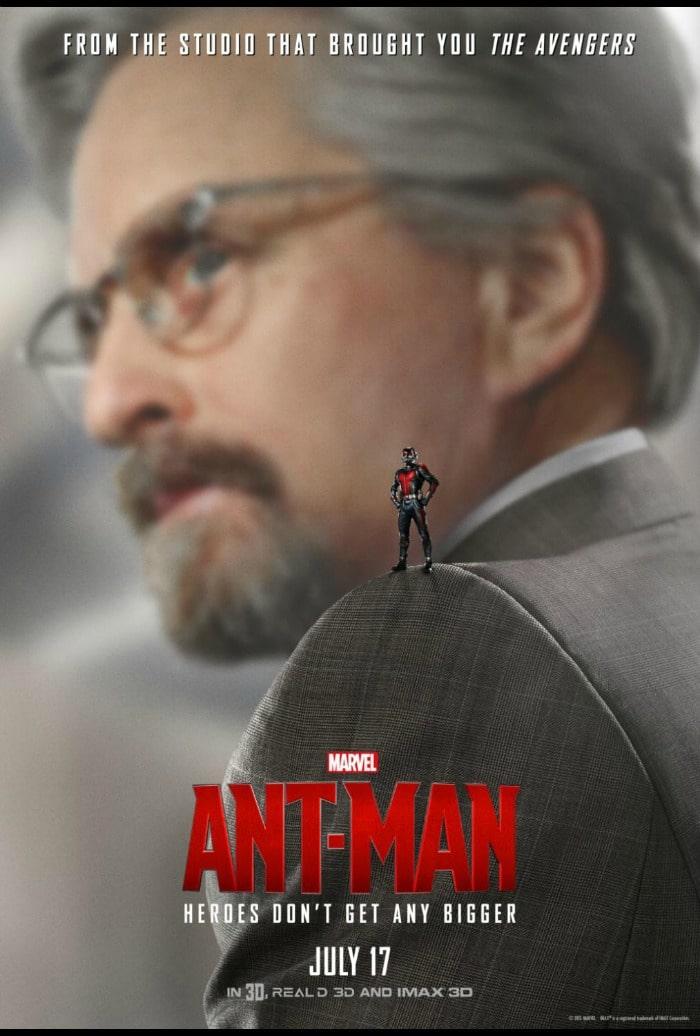 Michael Douglas is Hank Pym