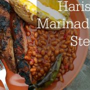 Bush's Grillin' Beans with Harissa Marinaded Steak