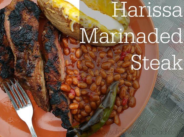 Bush's Grillin' Beans with Harissa Marinaded Steak