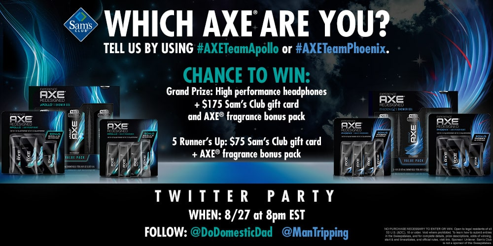 Join us for the #FindYourAxe Twitter Party This Thursday August 27th at 8:00 pm EST