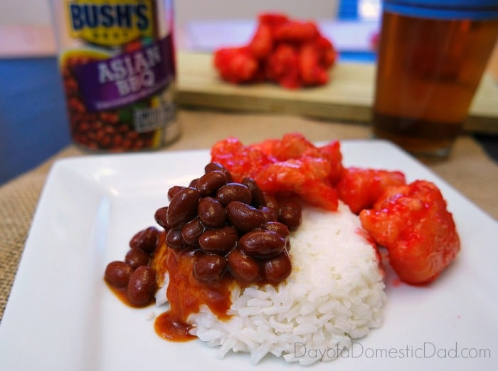 Sweet and Sour Asian Chicken and Rice with BUSH's Asian Style BBQ Beans #DoneThis
