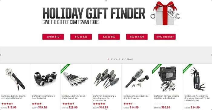 Gift Finder Craftsman #toolsfortheholidays