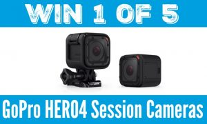 Win 1 of 5 GoPro HERO 4 Session
