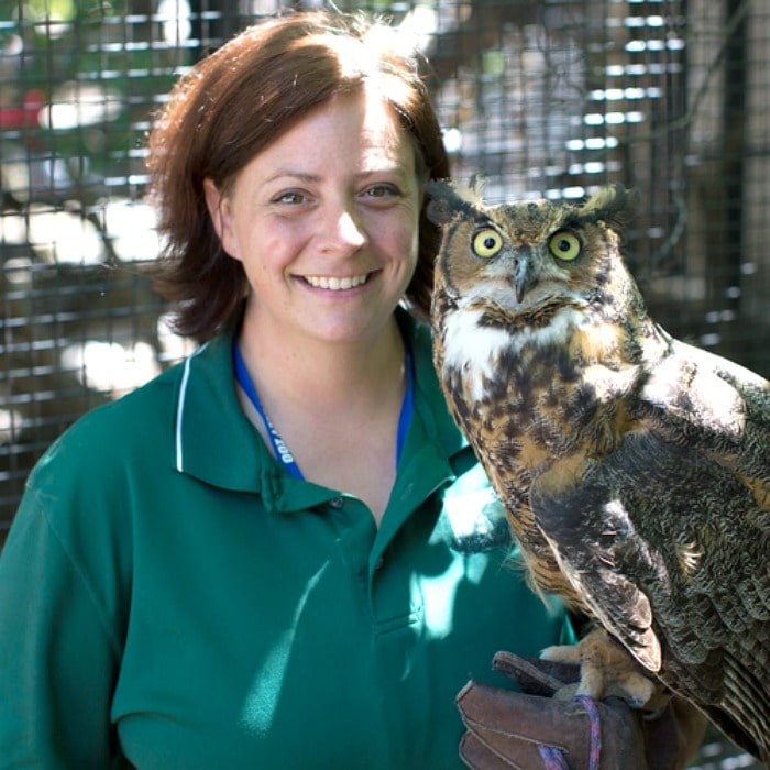 Jenny, an Illinois zookeeper, whose early training was in the culinary arts.