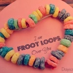 Froot Loops Over You Valentine's Day Craft for Toddlers