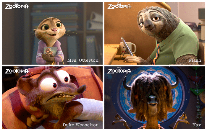 Meet the cast of Zootopia