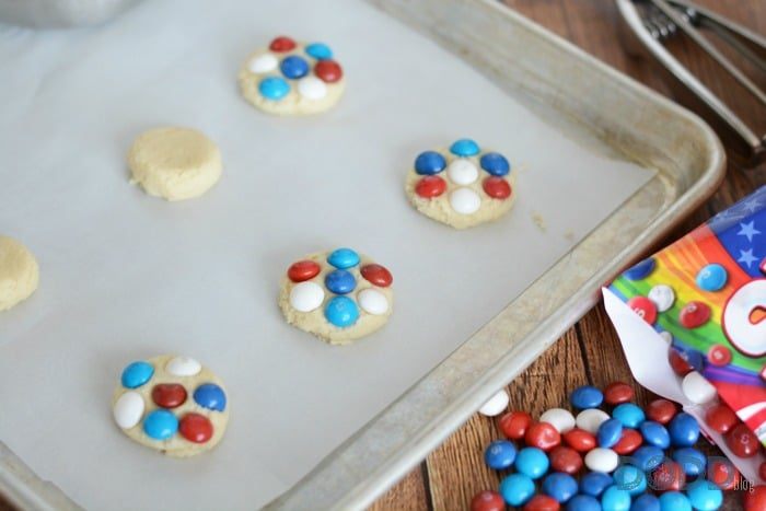 Red White and Blue Skittles Cookie - Sugar