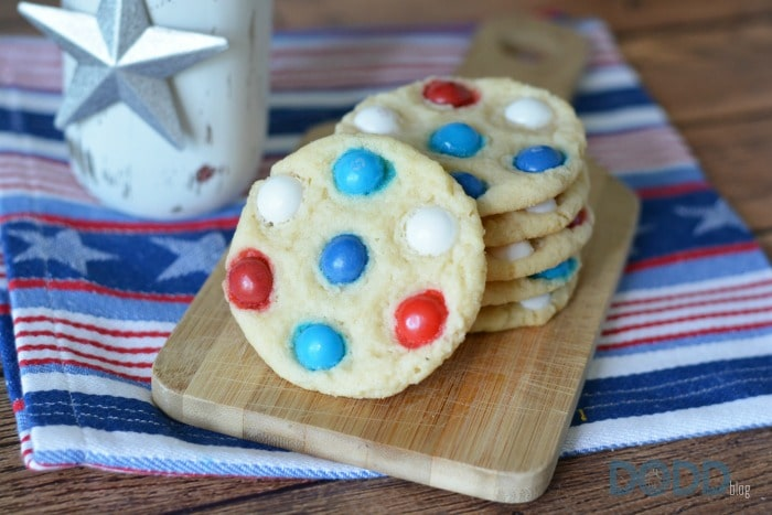 Red White and Blue Skittles Cookies