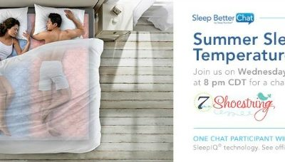 Sleep Number Twitter Chat – Wednesday the 22nd 9pm est