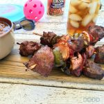 Chicken and Steak Kabobs with Bushs Steakhouse Beans