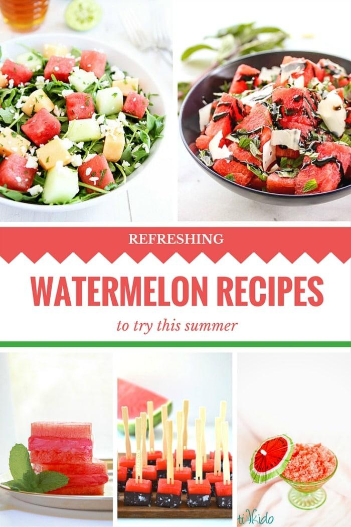 Watermelon Recipes Pinterest