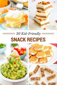 20 Kid Friendly Snack Recipes Just in Time for Back to School