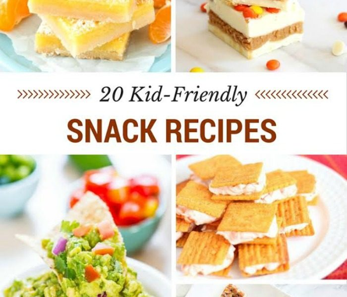 20 Kid Friendly snacks