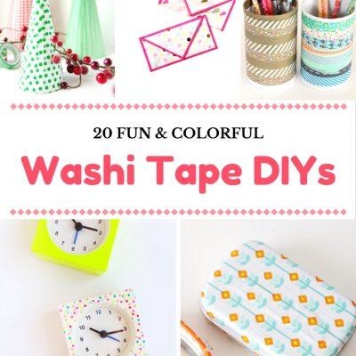 20 Washi Tape DIYs