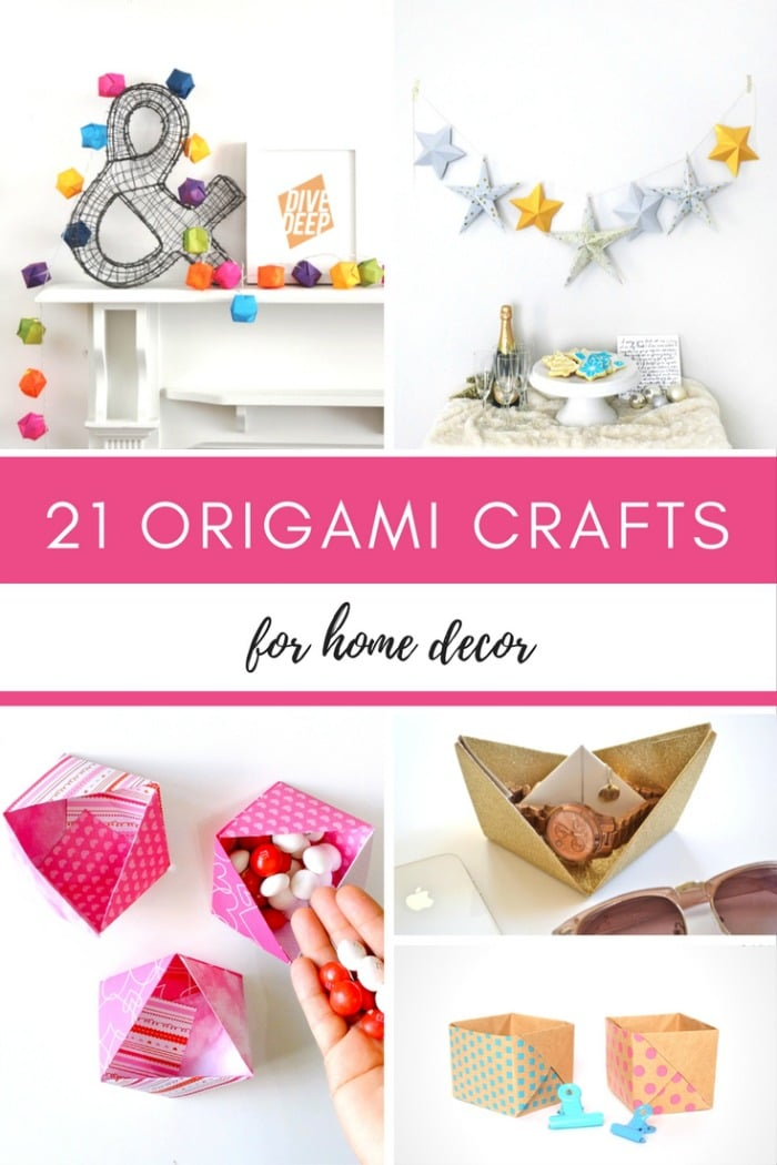 21 Origami crafts for home decor