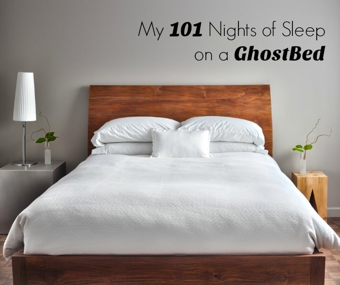 My 101 Nights of Sleep on a GhostBed