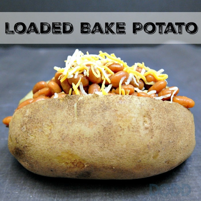 Loaded Bake Potato with Beans