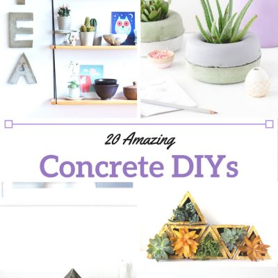 Concrete DIYs You Can Have the Kids Help You With