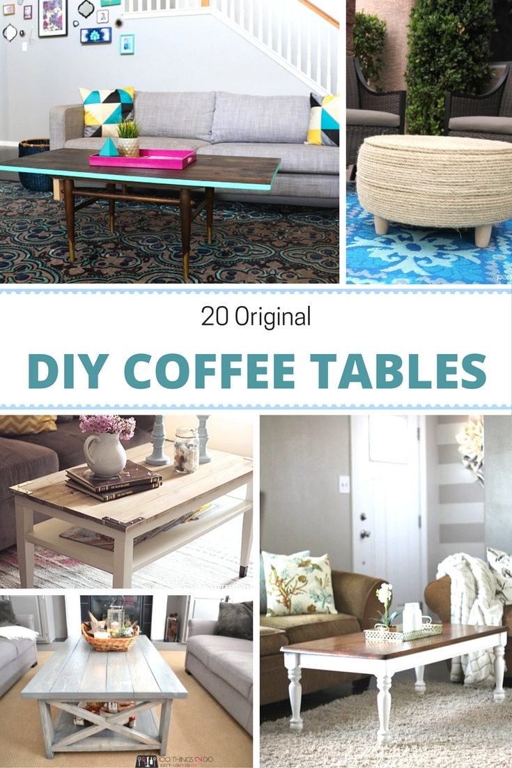 Collage of DIY Coffee Tables