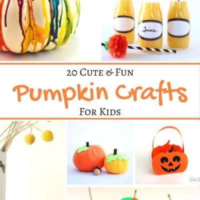20 Cute and Fun Pumpkin Crafts for Kids