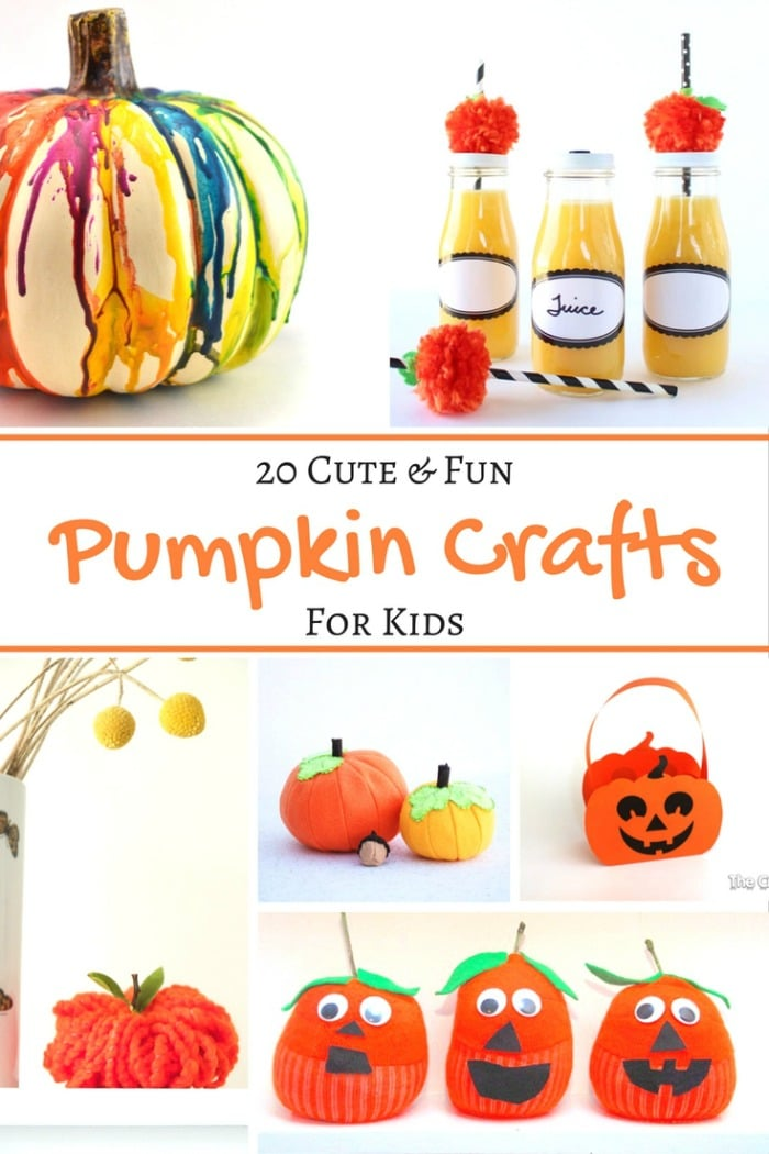 It is a graphic of Delicate Pumpkin Crafts for Toddlers
