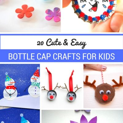 20 Cute & Easy Bottle Cap Crafts for Kids