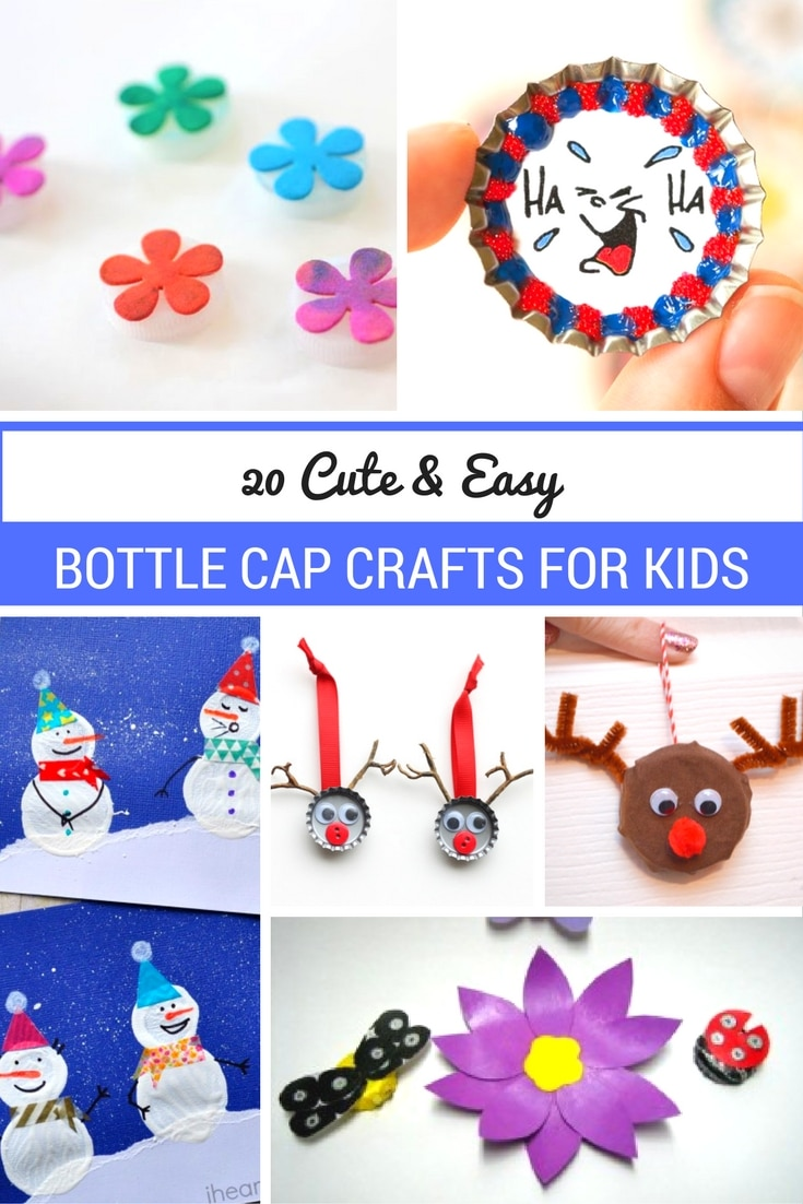 f75346cc10b Have Your Kids Try Out These Cute   Easy Bottle Cap Crafts for Kids.