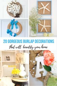 20 Gorgeous Burlap Decorations That Will Beautify Your Home