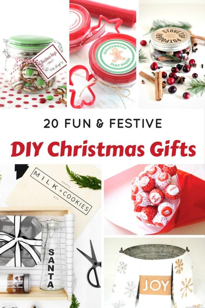 20 Fun and Festive DIY Christmas Gifts