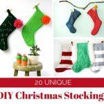 20 Super Easy to Make DIY Christmas Stockings