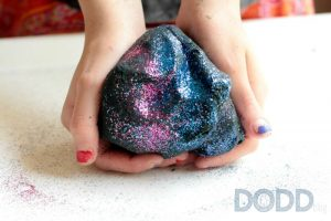 Space Themed DIY Galaxy Playdough for Kids